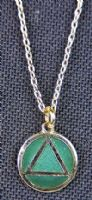 Necklace AA Emerald Green & Gold
